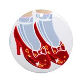 Red Ruby Slippers Car Ornament (Round)