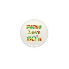 Retro 60's Mini Button (100 pack)