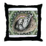Nesting Pigeons Decorative Throw Pillow