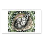 Nesting Pigeons Decorative Sticker (Rectangle)