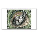 Nesting Pigeons Decorative Sticker (Rectangle 10 p