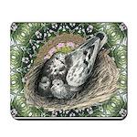 Nesting Pigeons Decorative Mousepad