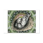 Nesting Pigeons Decorative Mini Poster Print
