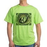 Nesting Pigeons Decorative Green T-Shirt