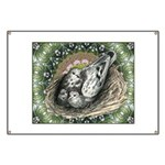 Nesting Pigeons Decorative Banner