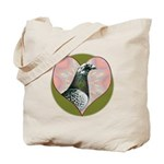 Racing Pigeon Heart Tote Bag