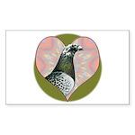 Racing Pigeon Heart Sticker (Rectangle 10 pk)