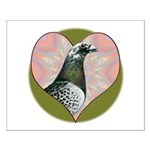 Racing Pigeon Heart Small Poster