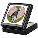 Racing Pigeon Heart Keepsake Box