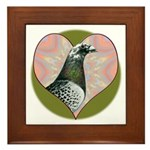 Racing Pigeon Heart Framed Tile