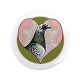 Racing Pigeon Heart 3.5&amp;quot; Button (100 pack)