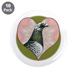 """Racing Pigeon Heart 3.5"""" Button (10 pack)"""