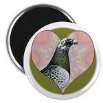"Racing Pigeon Heart 2.25"" Magnet (10 pack)"