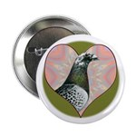 """Racing Pigeon Heart 2.25"""" Button (10 pack)"""