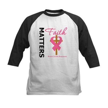 Faith Matters Breast Cancer Kids Baseball Jersey