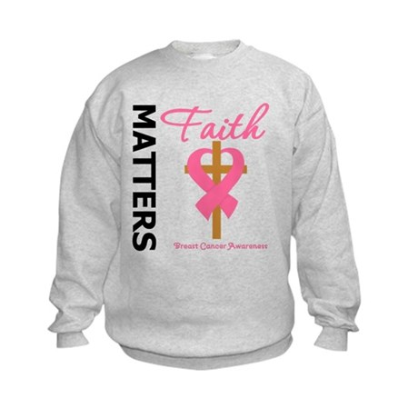 Faith Matters Breast Cancer Kids Sweatshirt