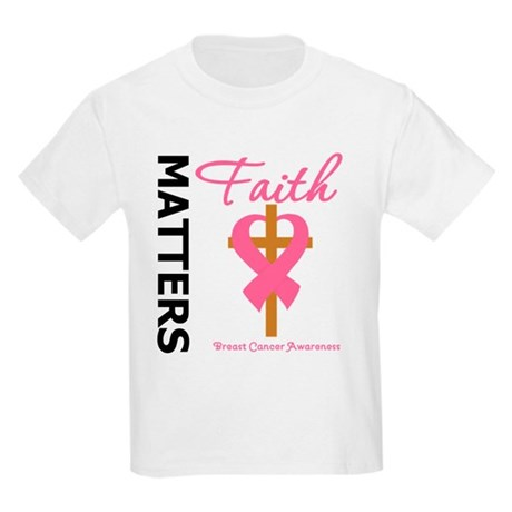 Faith Matters Breast Cancer Kids Light T-Shirt