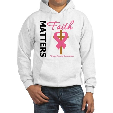 Faith Matters Breast Cancer Hooded Sweatshirt