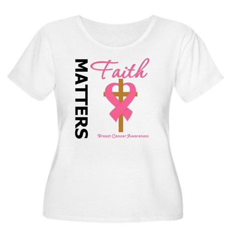 Faith Matters Breast Cancer Women's Plus Size Scoo