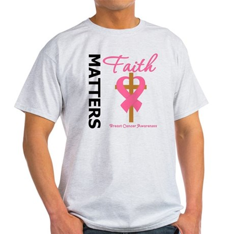 Faith Matters Breast Cancer Light T-Shirt