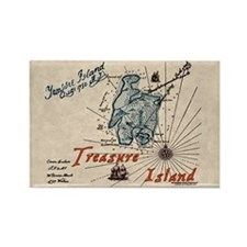 Treasure Island Rectangle Magnet
