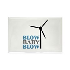 Blow Baby Blow (Wind Energy) Rectangle Magnet