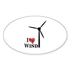 I love wind Decal