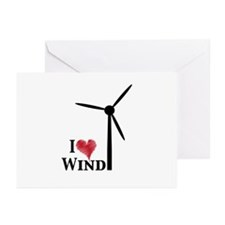 I love wind Greeting Cards (Pk of 10)