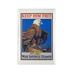 Keep Him Free Eagle Rectangle Magnet (10 pack)