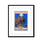 Keep Him Free Eagle Framed Panel Print