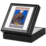 Keep Him Free Eagle Keepsake Box