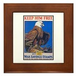 Keep Him Free Eagle Framed Tile