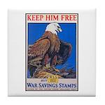 Keep Him Free Eagle Tile Coaster