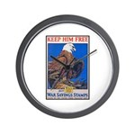 Keep Him Free Eagle Wall Clock