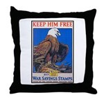 Keep Him Free Eagle Throw Pillow