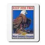 Keep Him Free Eagle Mousepad