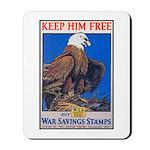 Keep Him Free Eagle Mousepad