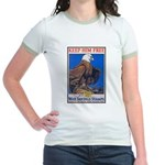 Keep Him Free Eagle Jr. Ringer T-Shirt