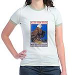 Keep Him Free Eagle (Front) Jr. Ringer T-Shirt
