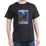 Keep Him Free Eagle (Front) Black T-Shirt