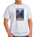 Keep Him Free Eagle Ash Grey T-Shirt