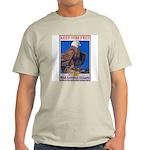 Keep Him Free Eagle (Front) Ash Grey T-Shirt