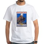 Keep Him Free Eagle White T-Shirt