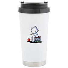 Back To School Westie Ceramic Travel Mug