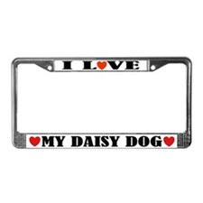 I Love My Daisy DogLicense Frame