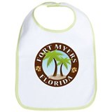 Fort Myers Palm Trees Bib