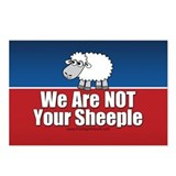 We Are NOT Sheeple Postcards (Package of 8)
