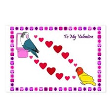 Lovebird Postcard Valentines (Package of 8)
