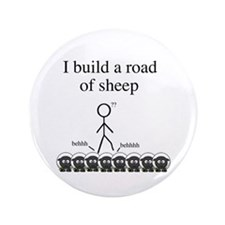 "Road of Sheep 3.5"" Button"