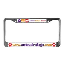 Cute Dog and cat non profit rescue group License Plate Frame